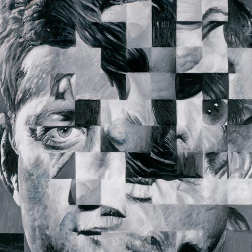 Carré_Untitled (Distorted Faces Series JFK), Jim Shaw, 1986. Oil on canavs. 183 x 122 cm (72 x 48 in)